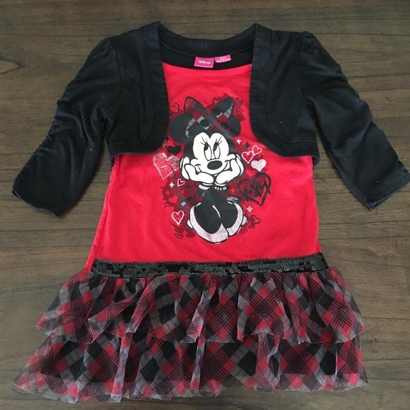 f3d755744 Disney Shirts & Tops   Minnie Mouse Drop Waist Skirt Shrug Top ...